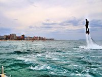 Flyboarding over the sea