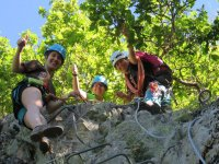 费拉塔Collegats.JPG夹板上的铁索攀岩