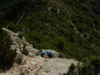 Supervising the material in the ferrata