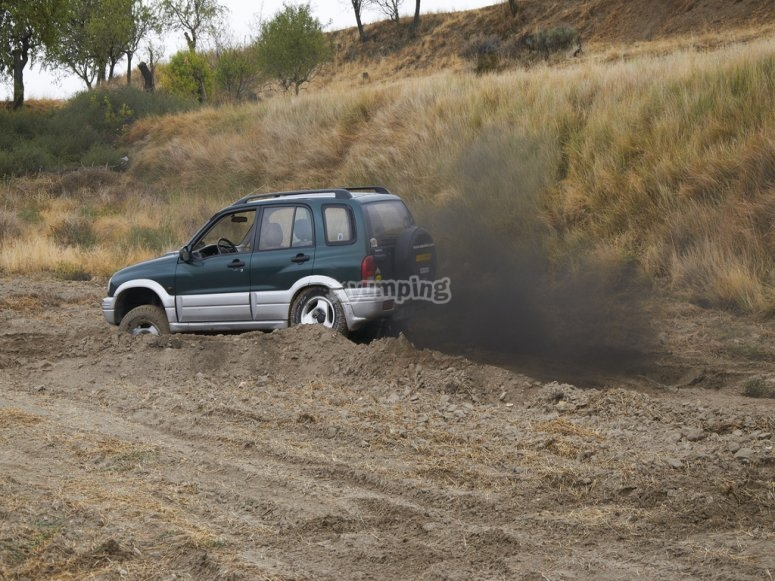 Haciendo una excursion en 4x4