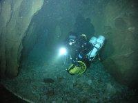 在比斯开莫雷纳潜水水下底部开始