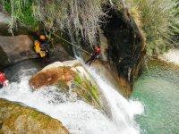 Aquatic canyoning descent in Alicante