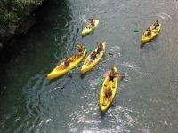 Canoe nel fiume Jucar