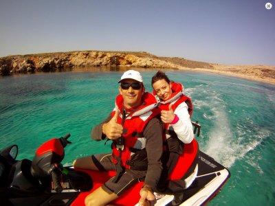 Excursión moto de agua biplaza, Fornells, 1 hora
