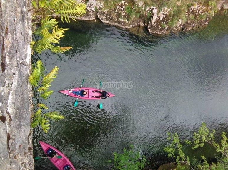 Avanzamento lungo il fiume