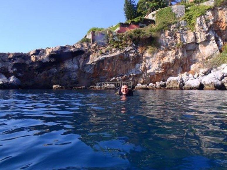 antes de la inmersion