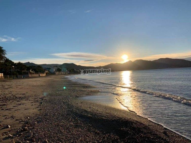 玛扎龙湾的日落
