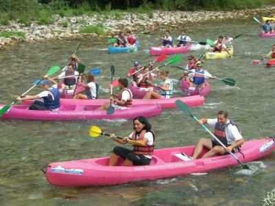 Descenso de medio río, Deva o Cares, en canoa