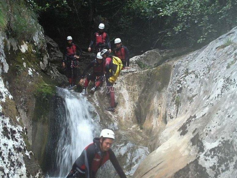 Sliding through the chute