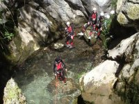 Canyoning initiation. Unquera zone.