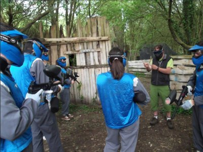 Paintball round in Unquera with 100 balls