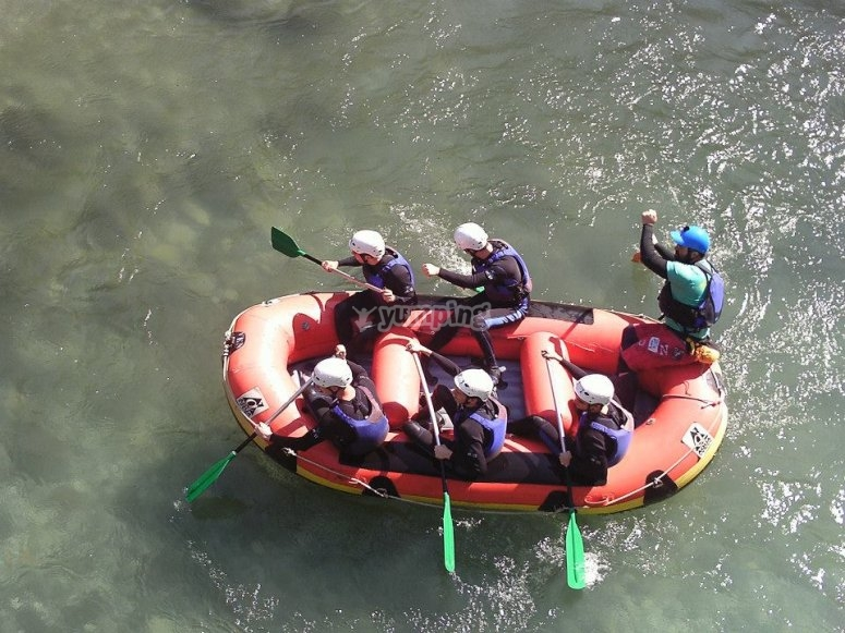 Raft from above