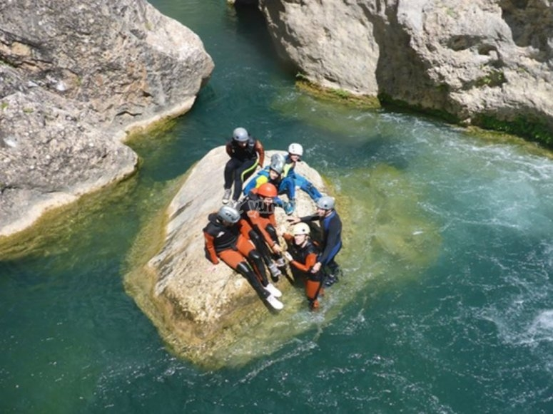 Équipe de canyoning