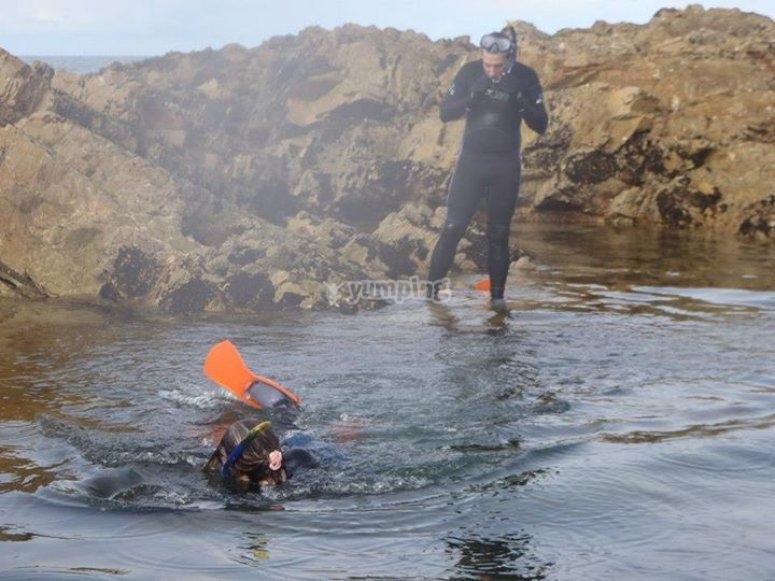 Sesión de snorkel