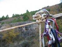 Tirolinas sobre cuerda