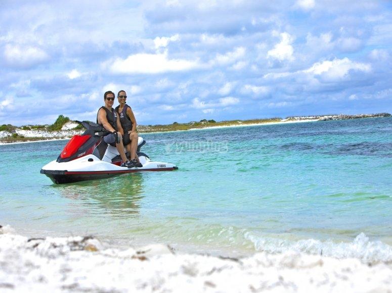 Tour en moto de Agua  Es Vedra