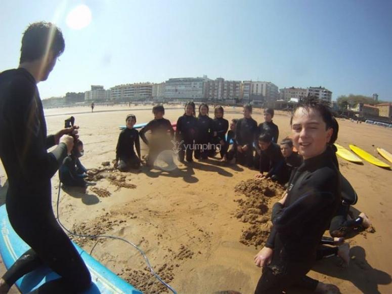 Curso de surf en Zarautz