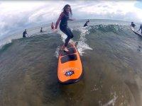 Surfeando en Zarautz