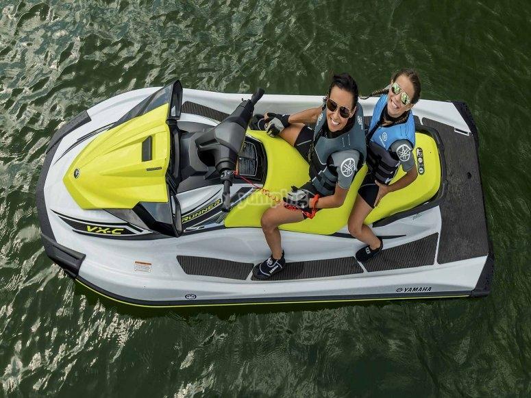 Ruta a Islas Margaritas en moto de agua