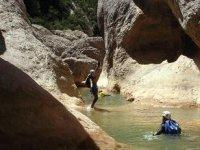 Water ravine
