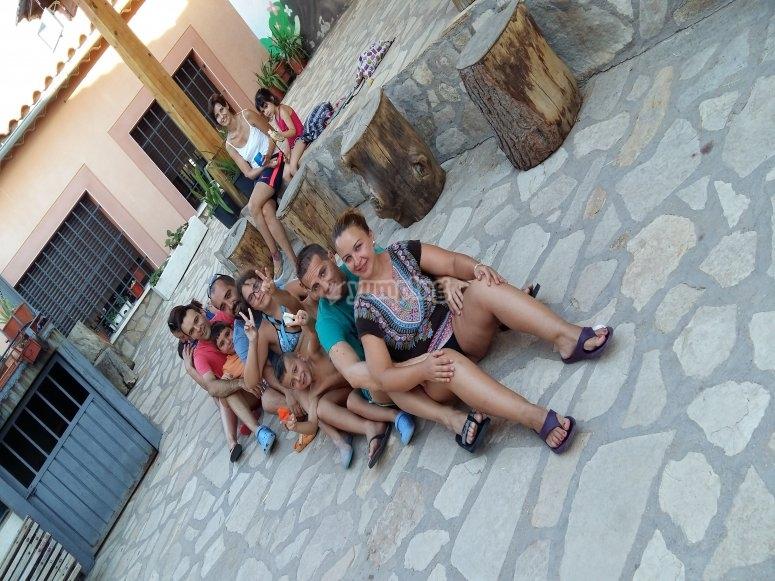 Grupo en el campamento