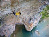 Practice climbing in Huesca