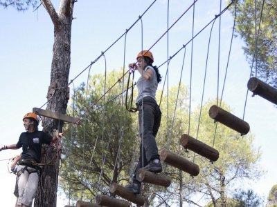 Rope Park S.Martín de Valdeiglesias. 1h30´