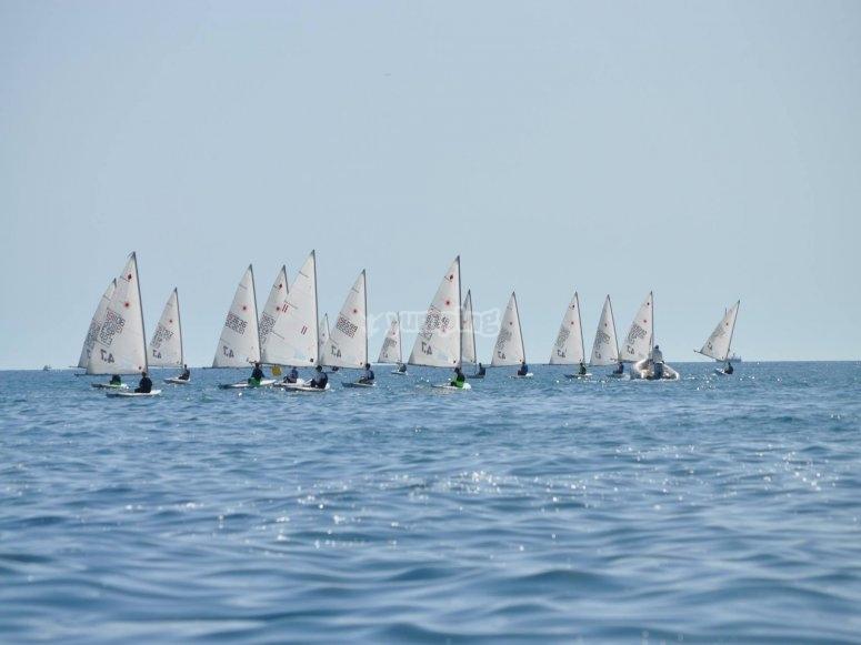 Sailing at the Mediterranean