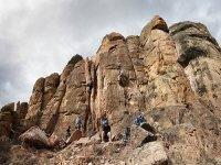 Climbing near Guara