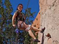 Rappelling techniques in climbing