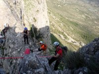 Rappelling in the mountains of Guara