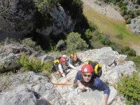 Practice via ferrata in Huesca