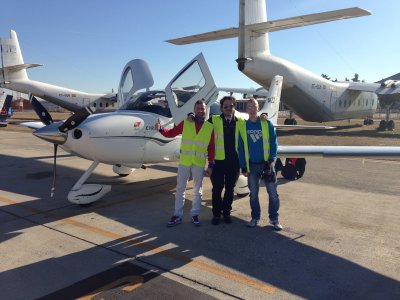1-day pilot training course + Photos, Madrid