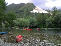 Descent river Sella special kids with picnic