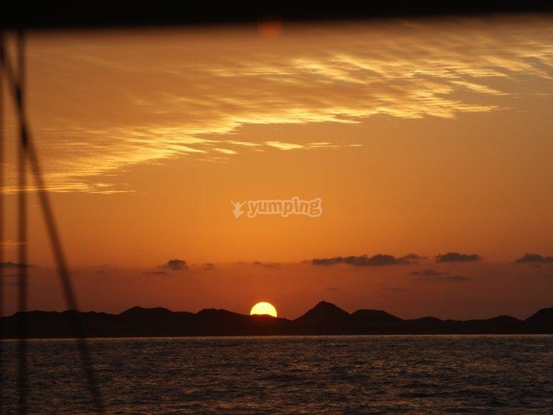 Sunrise Lobos Island