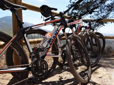在马拉加的山地自行车导览游