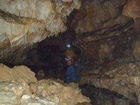 Dentro de la cueva en Majadas