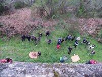 Grupo de escalada al aire libre