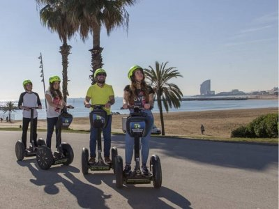 Tour guidato costiero di Barcellona in Segway 1 ora