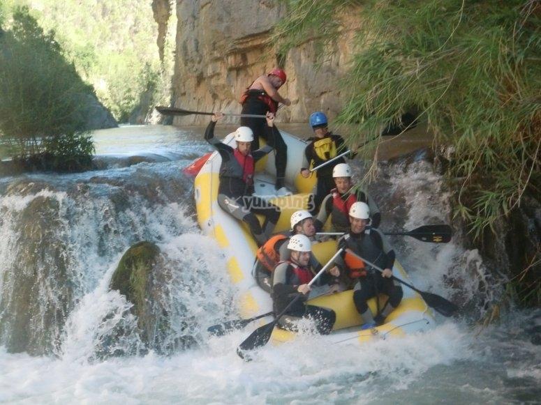Salto de rafting
