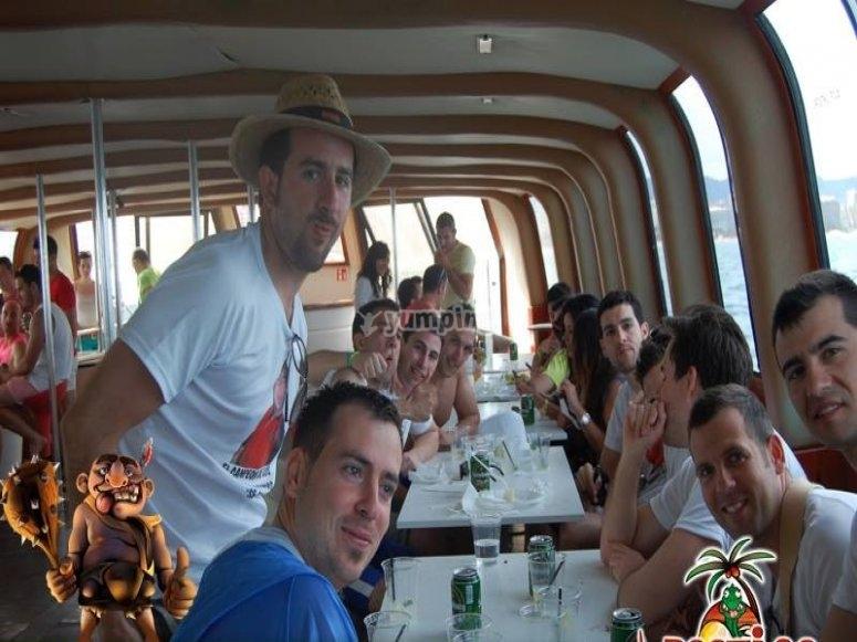 Comida a bordo del catamaran