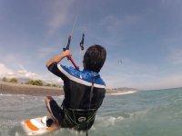 水开始AWA风筝冲浪沿岸第一下滑