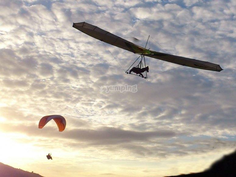 Voladores en el cielo