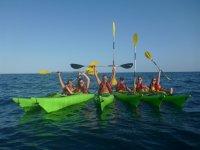 Our fleet of 6 kayaks