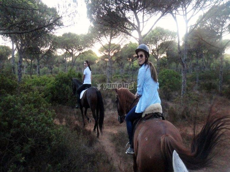 Ruta a caballo niños