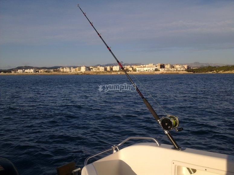 Preparado para la pesca