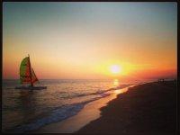 学校活动Nauticas航行过程中的Playa格拉纳达