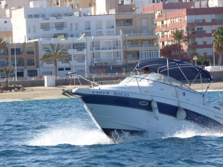 Motorboat in Almería