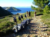 segway on the mountain