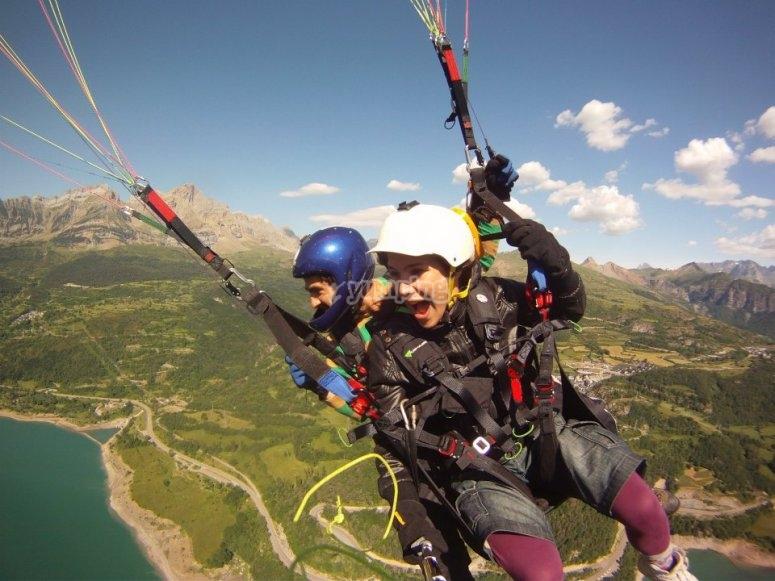 Adrenalina en parapente